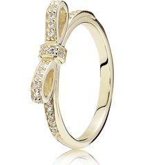 anel de ouro laço