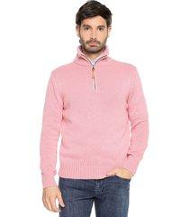 sweater rosado 22 preppy m/l c/alto 1/2 cremallera tejido medio