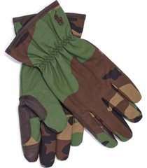 polo ralph lauren men's camo-print canvas gloves