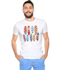 camiseta blanco-multicolor ocean pacific