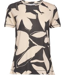 elevated prt seasona t-shirts & tops short-sleeved zwart calvin klein