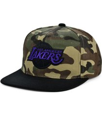 mitchell & ness los angeles lakers natural camo snapback cap