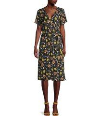 velvet women's rona floral wrap dress - size s