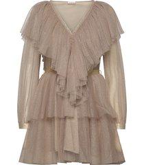 penny dress kort klänning beige ida sjöstedt