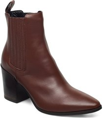 classic western elastic shoes boots ankle boots ankle boot - heel brun apair