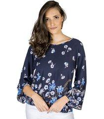 blusa estampa floral handbook feminino