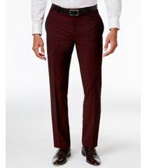inc men's slim-fit burgundy pants, created for macy's