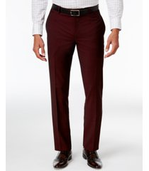 inc men's slim-fit burgundy pants, created for macy's