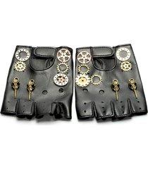 vintage gothic steampunk gear gloves