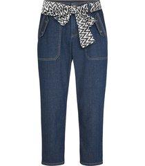 jeans capri elasticizzati con fusciacca (blu) - john baner jeanswear