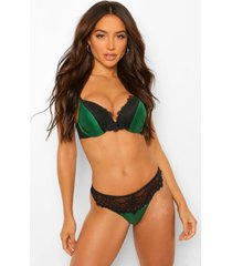 jewel tone super push up beha, emerald