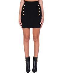 balmain skirt in black viscose