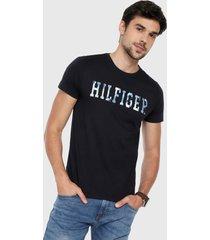 camiseta azul oscuro-multicolor tommy hilfiger