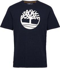 ss k-r brand tree t t-shirts short-sleeved svart timberland