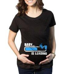 camiseta criativa urbana gestantes grávidas baby loading