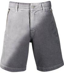 diesel red tag two-tone denim shorts - grey