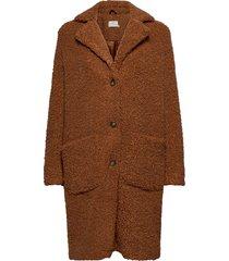 balma teddy coat- min 4 pcs outerwear faux fur bruin kaffe