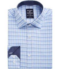 society of threads men's slim-fit non-iron performance stretch check dress shirt