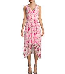 floral chiffon a-line dress