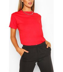 basic oversized t-shirt, rood