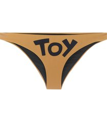 moschino toy print bikini bottom - brown