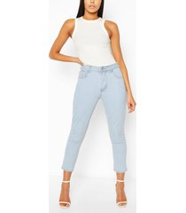 high rise mom jeans, lichtblauw