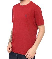 camiseta aleatory logo vermelha - vermelho - masculino - algodã£o - dafiti