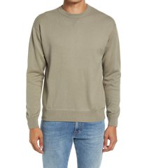 men's closed french terry cotton blend crewneck sweater, size small - beige
