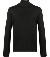just cavalli logo band high-neck sweatshirt - black