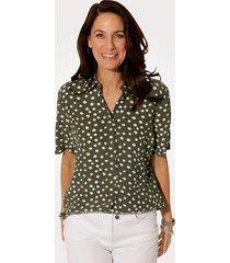 blouse mona olijf::wit