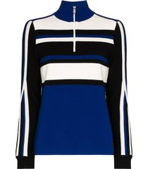 bogner half-zip striped sweatshirt - blue