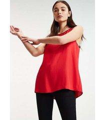 blusa hermosa roja tommy hilfiger