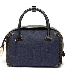 'cool box' denim satchel