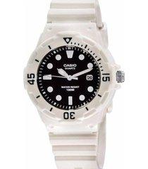 reloj analógico mujer casio lrw-200h-1e - blanco con negro  envio gratis*