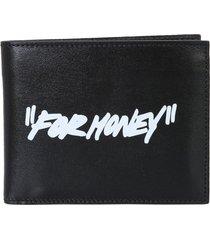 off-white bifold wallet