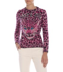 alberta ferretti - save me animal printed sweater