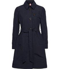 coat not wool trenchcoat lange jas blauw gerry weber edition