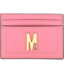 moschino monogram card holder