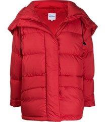 aspesi padded coat - red