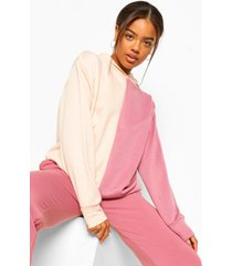 colourblock oversized hoodie, rose