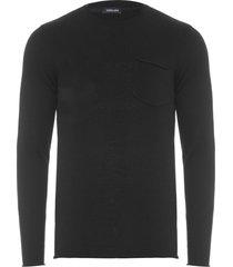 suéter masculino tricot classic cotton - preto