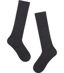 calzedonia - tall wool and cotton socks, 40-41, grey, men