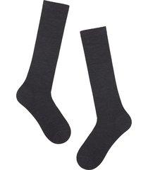 calzedonia - long wool and cotton socks, 40-41, grey, men