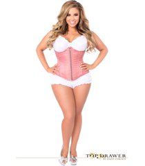 daisy corsets top drawer dusty rose underbust corset