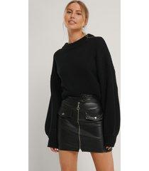 trendyol kjol med fickdetalj - black