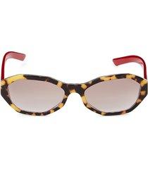 prada women's 56mm oval sunglasses - havana