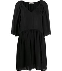 dorothee schumacher gathered swing dress - black