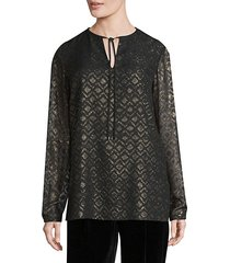 eli long-sleeve blouse