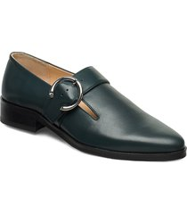 prime buckle shoe loafers låga skor grön royal republiq