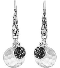 'dot' sapphire spinel sterling silver earrings